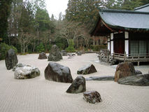 Zen-Garten bei Koya-San Stockfotos
