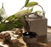 Zen ginseng tea atmosphere Stock Image