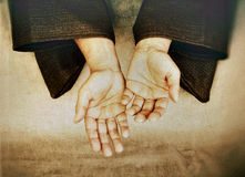 Zen-Hände Stockfotografie