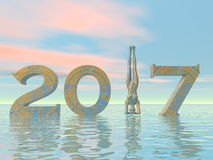 Zen happy new year 2017 - 3D render Stock Photography