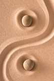 Zen harmony. Sand and stone meditation garden stock photography