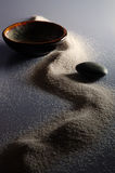 Zen I. Still life with sand, stone and bowl