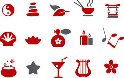Zen Icon Set Royalty Free Stock Photo