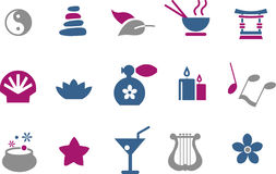 Zen Icon Set Stock Photography