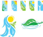Zen icons one. Zen like icons representing healing, relaxation and happiness Stock Photography