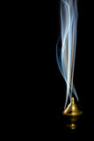 Zen incense. Incense burning with beautiful smoke fumes and wisps Royalty Free Stock Photography