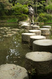 Zen kamienna ścieżka w pone blisko Heian świątyni Zdjęcia Royalty Free