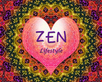 Zen lifestyle love heart Stock Image