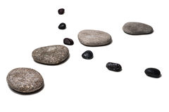 Zen like curved lines of pebbles Royalty Free Stock Photos