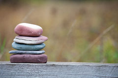 Zen-like stack of rocks Stock Photos