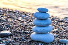Zen-like stone pyramid Royalty Free Stock Photo