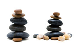 Zen like stones isolated on white background. Zen like stones stack on white background Royalty Free Stock Image