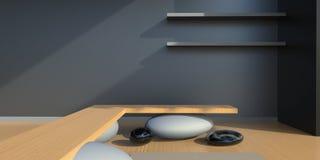 Zen Living Studio Black y simple blanco ilustración del vector