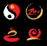 Zen Logo. Vector illustration. Chinese brush style Stock Photos