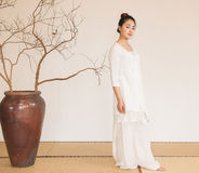 Zen Meditation-The artistic conception of Zen tea Royalty Free Stock Photo