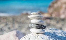 Zen meditation balance stones stock images