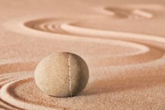 Zen meditation sheng fui stone Stock Photo