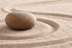 Free Zen Meditation Stone And Sand Garden For Mindfulness Royalty Free Stock Images - 142524839