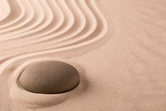 Zen meditation stone and sand garden royalty free stock images
