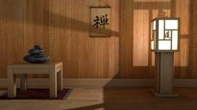 Zen miejsce dla relaksuje Zdjęcia Royalty Free