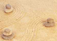 Zen mindset concept on sand Royalty Free Stock Photos