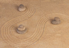 Zen mindset on sand Royalty Free Stock Photography