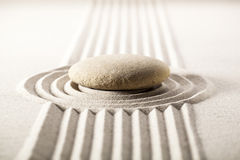Zen mineral landscape for concentration Royalty Free Stock Photography