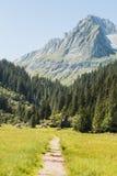 Zen moment in Alps Stock Image