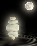 Zen Moonlight Beauty Stock Photos
