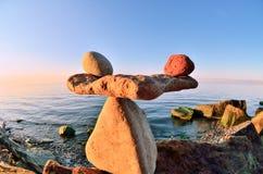Zen na costa Fotos de Stock Royalty Free