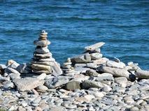 Zen na praia Imagem de Stock Royalty Free