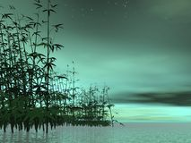 Zen nature - 3D render Stock Photo