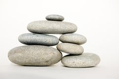 Zen object. Zen like stones, stock of pebbles, isolated object Royalty Free Stock Images