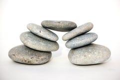 Zen object. Zen like stones, stock of pebbles, isolated object Royalty Free Stock Photography