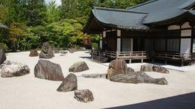 Zen ogród Kongobuji świątynia w Koyasan, Japonia Obrazy Stock