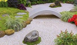 Zen ogród w wiośnie Obraz Stock