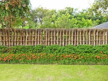 Zen ogródu ogrodzenie zdjęcie stock