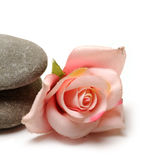 Zen path. Stones on white background Royalty Free Stock Images