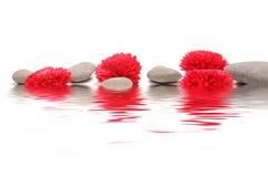 Zen path. Zen stones with origami flower Stock Image