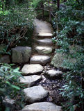 Zen Path. Stone path in a traditional Japanese Garden.Vancouver Canada Royalty Free Stock Image