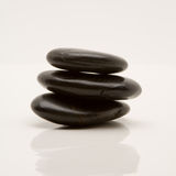 Zen pebble stones. On a white background royalty free stock photography