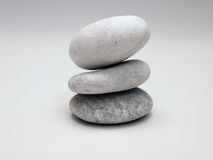 Zen Pebbles. A balanced stack of white pebbles Stock Images