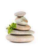 Zen pebbles balance. Royalty Free Stock Photos