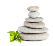 Zen pebbles balance. Royalty Free Stock Image
