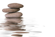 Zen pebbles. Closeup isolated background Royalty Free Stock Images