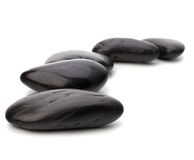 Zen pebbles path. Royalty Free Stock Photography