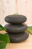 Zen pebbles in spa with bamboo Stock Image