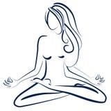 Zen postawa ilustracja wektor