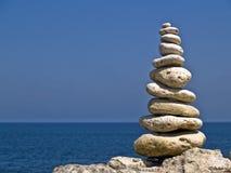 Zen pyramid Stock Photo