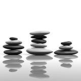 Zen que empilha pedras Foto de Stock